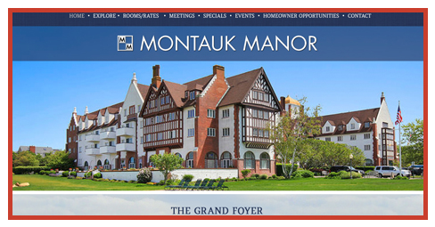 Web site designed for Montauk Manor